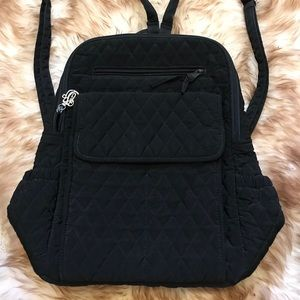 Vera Bradley Black Quilted Backpack